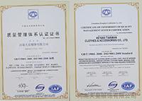 ISO 9000:2008质量管理体系证书
