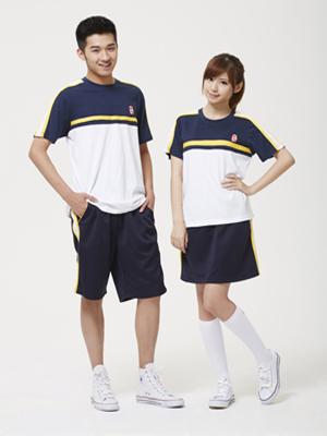 夏季中学生校服图片