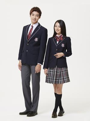 西装短裙式学生校服