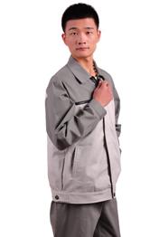 时尚灰白撞色工程服TMQMCX-0046