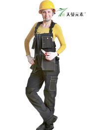 牛仔工装多袋背带裤TMBDK-019