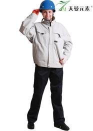 全棉工作服白色定制TMQMCX-0012