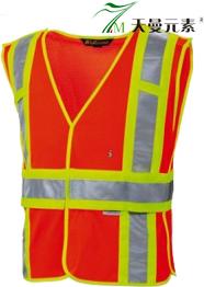 桔红安全反光网布背心TMFGGZF-007