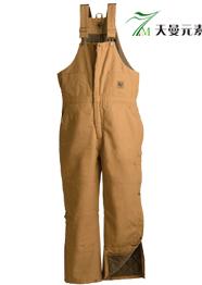 棉麻工装背带裤TMBDK-005