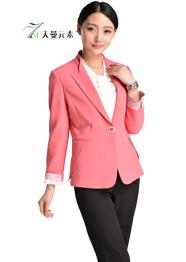 单排扣粉色小西装TMSWZ-038