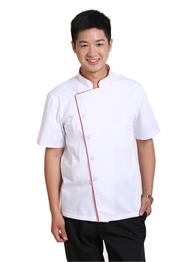 短袖厨师工作服棉TMCSF-003