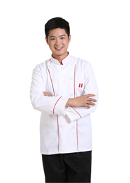 酒店后厨长袖厨师工作服TMCSF-002