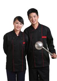 黑色长袖厨师服TMCSF-008