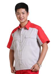 建筑工人yabo2012下载短袖套装TMYSDX-013