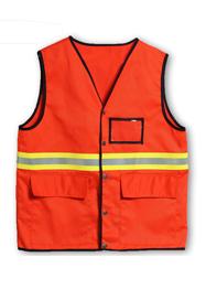 路政橘色反光马夹TMFGGZF-005