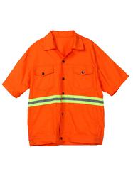 夏季短袖橘色环卫服TMHWGZF-006