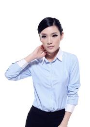 纯棉衬衫女长袖TMCS-014