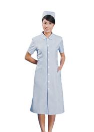浅蓝色护士服夏季短袖TMHSF-034