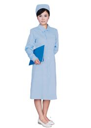 护士服长袖 粉蓝色TMHSF-021