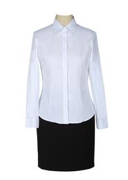 女士长袖翻领衬衫定做TMW100605