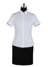 女士粉条纹衬衫批发定做TMNC502A