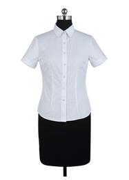 女短袖v领衬衫TMNC507A