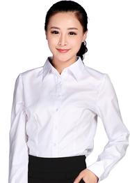 现货批发衬衫白色长袖TMCS-001C
