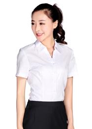 白色女士衬衫v领现货批发TMCS-008