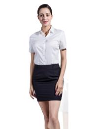 衬衫女短袖V领衬衣GWD6001