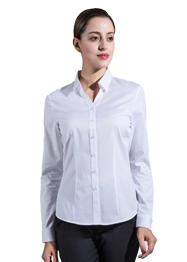 女长袖V领衬衣GW6002