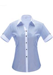 女短袖V领衬衣YWD3501