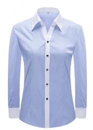 女长袖V领衬衣YW3501