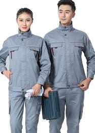 灰色带反光条工作服新款TM663-05