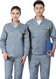 西服领铁灰色车间工作服长袖新款TM662-01