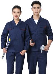 深蓝色工作服新款西服小翻领TM662-02