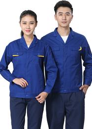 艳蓝色工作服长袖TM662-04