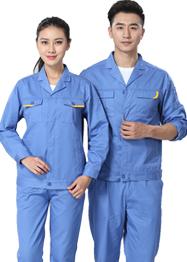 浅蓝色长袖工作服TM662-03