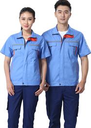 浅蓝色时尚工作服TMX663-09