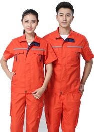 带反光条橙色工作服TMX663-12
