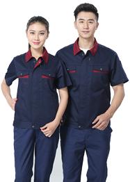 深蓝色夏季工作服TMX661-03