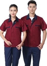 夏季枣红色工作服TMX661-05