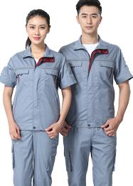 浅灰色带反光条工作服TMX663-07