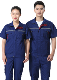 深蓝色工作服带反光条TMX663-03