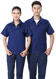 短袖工作服深蓝色新款TM665-03