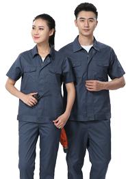 短袖铁灰色时尚工作服TMX665-01